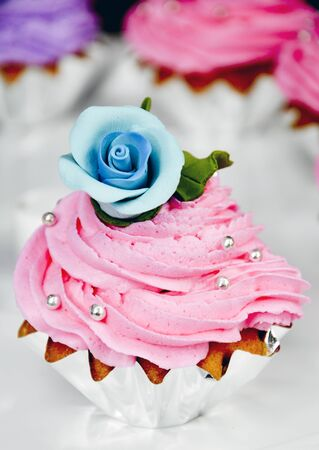 cake with flower as decorated