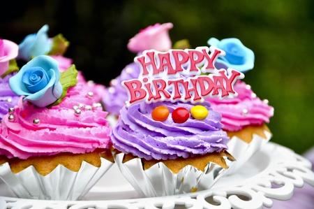 cookies cake say happy birthday Stock Photo - 13109047