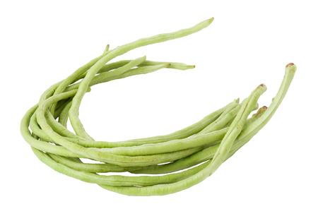 Long beans on white background photo