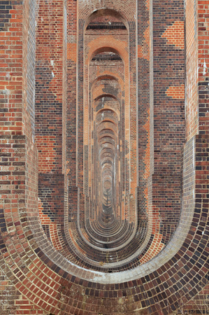 sightseers: Balcombe viaduct near Crawley in West Sussex on rail track from London to Brighton