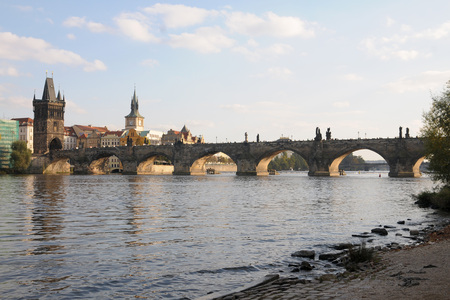 charles bridge: Charles Bridge in Prague Stock Photo