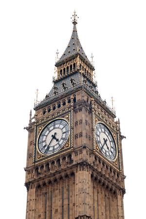 bigben: London - Big Ben isolated on white