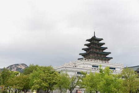 Pagoda at National Folk Museum of Korea in Seoul, South Korea