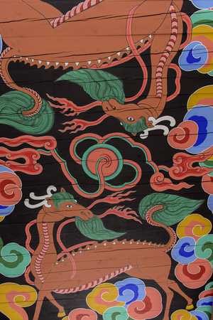 One from the paintings on a Gyeongbokgung palace entrance roofs