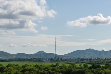2015-07-21 Panmunjom - Demilitarized zone, South Korea - North Korean village known as Propaganda village north of Demilitarized zone (DMZ) between South and North Korea