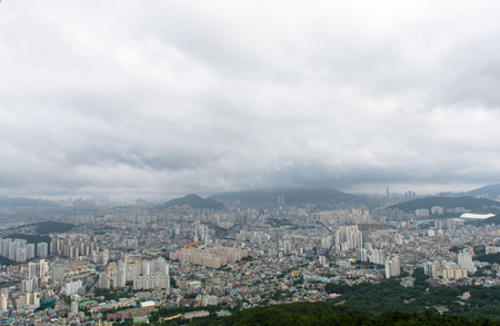 View from Cable Car towards Busan, South Korea