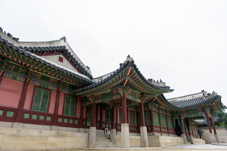 Building at Changdeokgung palace in Seoul, South Korea