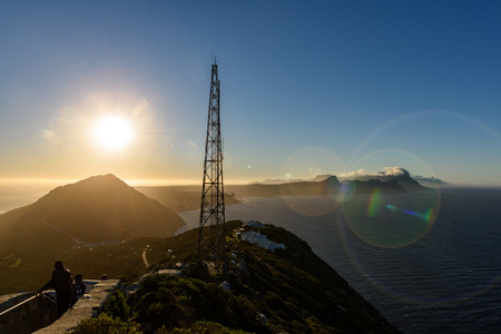Sunset over Cape peninsula from Cape Point, Cape Town, South Africa