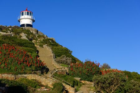 Lighthouse located on top of Cape Point, Cape Town, South Africa