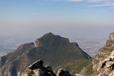 View from the top of Table Mountain. Cape Town, South Africa