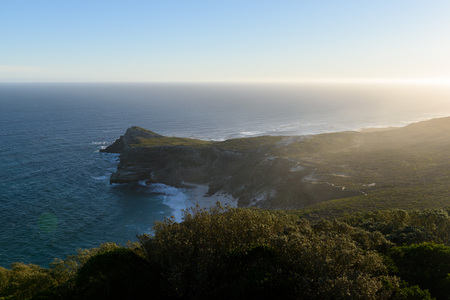 Cape of Good Hope during the Sunset, Cape Town, South Africa Stock Photo