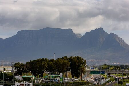 View towards Table Mountain in Cape Town, South Africa