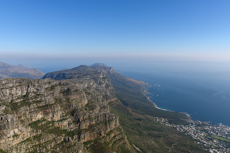 table mountain national park: View from the top of Table Mountain. Cape Town, South Africa