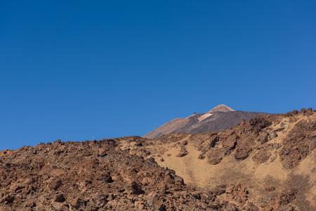 View of highest peak of Spain - El Teide vulcano at Tenerife, Canary Islands