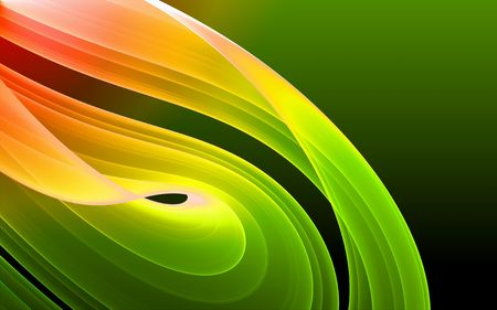 Colorful 3D rendered fractal design (abstract background) Stock Photo - 1768180