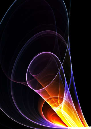 Colorful 3D rendered fractal (fantasy,abstract background) Stock Photo - 2102565