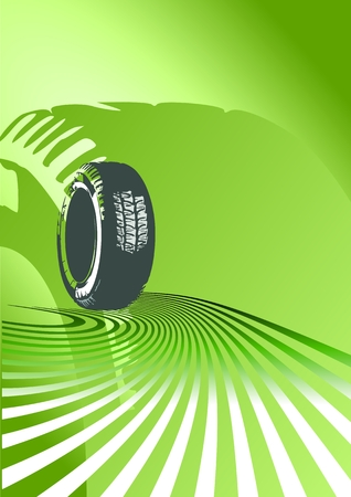 tire shop: vector background of auto design