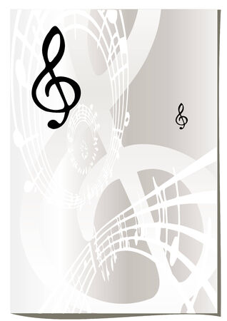 sings: Music abstract background