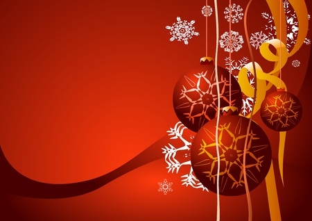 Red Christmas background(vector illustration) Vector