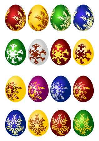 Easter eggs vector icon set Vector