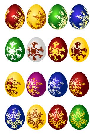 Easter eggs vector icon set Vector