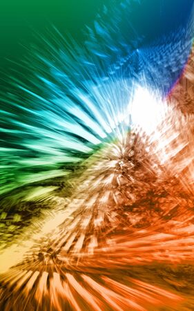 Pyramidal flare 3D rendered fractal Stock Photo - 2513376