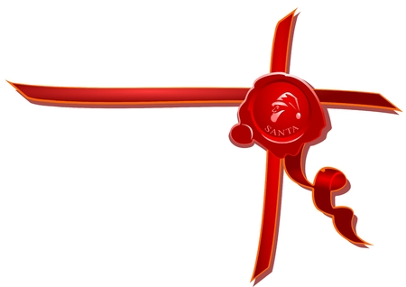 signet: Signet, christmas background Illustration