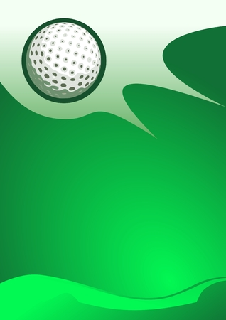 Abstract sport background (Golf Ball Vector)