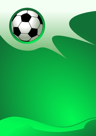 sport logo: Abstract sport background (Soccer Ball Vector)