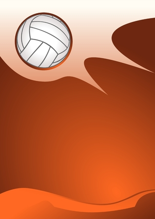 volleyball player: Abstract sport background (Vector Illustration of volleyball vector) Illustration