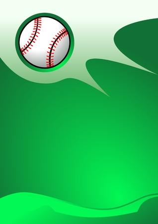 Abstract sport background (Baseball Vector) Illustration