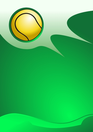Abstract sport background (Tennis ball Vector)