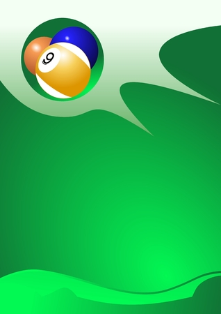 Abstract sport background (Pool Balls Vector)