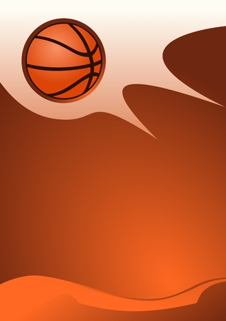 sports vector: Abstract sport background (Vector Illustration of Basketball vector)