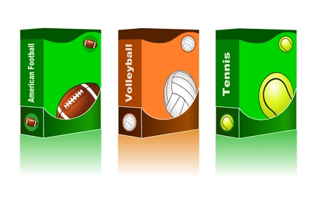 Abstract sport background ( American Football, Volleyball,  Tennis Vector ) Vector