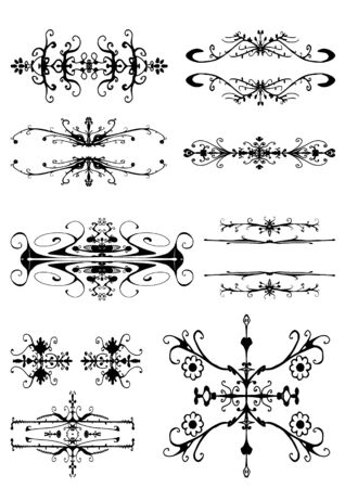 Vector illustration of abstract vector design elements