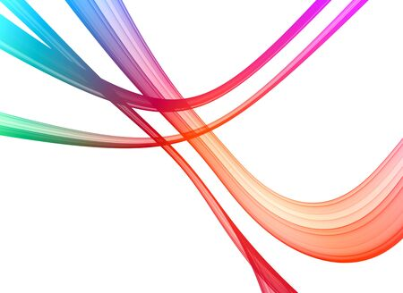 Colorful rendered  fractal design ( fantasy abstract background ) Stock Photo