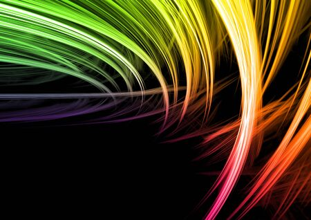 Colorful rendered fractal design (fantasy abstract background) Stock Photo