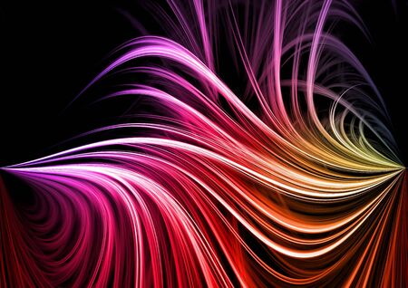 Colorful rendered fractal design (fantasy abstract background) Stock Photo - 3349038