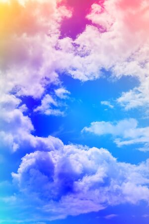 Abstract background : Colorful sky and clouds Stock Photo - 3387094