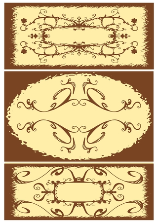 Floral Vintage frame, vector illustration Stock Vector - 3589408
