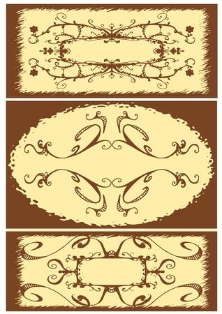 Floral Vintage frame, vector illustration Stock Vector - 3589408