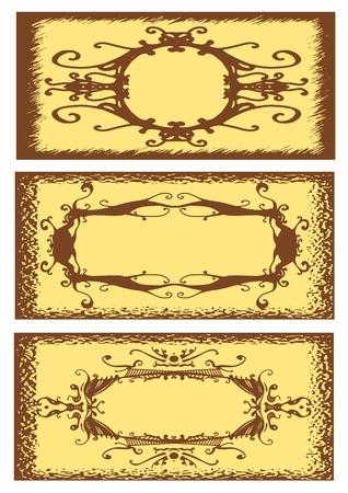 Floral Vintage frame, vector illustration Vector