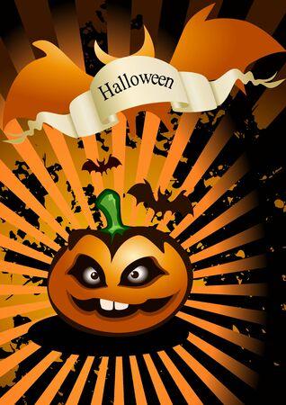 Halloween abstract background ( vector illustration ) Vector
