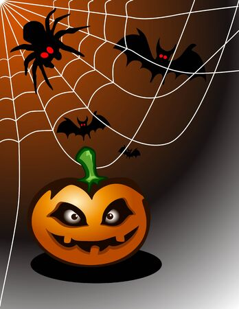 Halloween abstract background ( vector illustration ) Vector