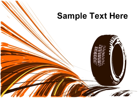treads: Vector background of auto design