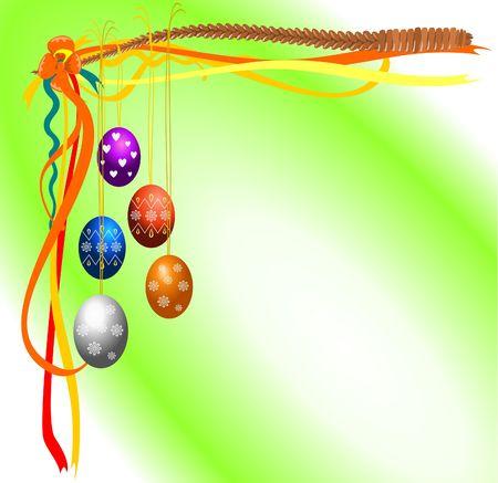 osier: Easter decoration Stock Photo