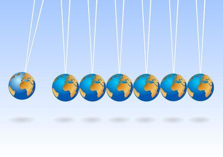 balancing: Balancing earth spheres