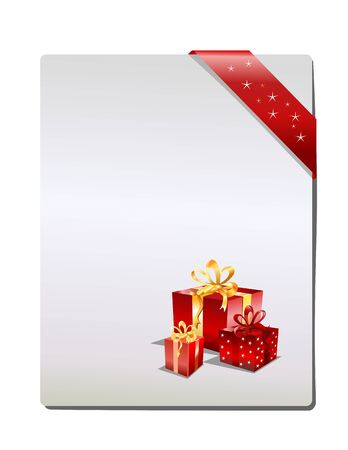 Christmas Gift page, ( vector illustration )