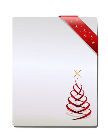 kerst markt: Christmas Gift pagina, vector